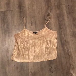 Topshop gold crop top